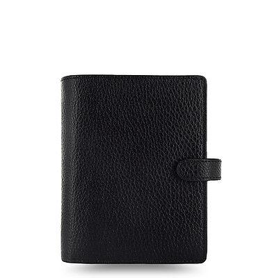 Filofax Pocket Finsbury Leather Organizer Black - 025360