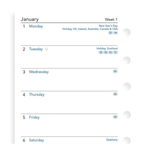 2020 FILOFAX Pocket Week on a Page Diary/Calendar 20-68226