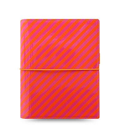Filofax Domino Organizer Patent Orange Pink A5 - 022574 - 2018 Diary