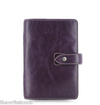 Filofax Personal Size Malden Organizer- Purple Leather - 025850 Free Bonus Pen