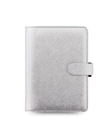 Filofax Saffiano Metallic Personal Organizer Silver 2019 - 028754