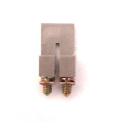 Din Rail Terminal Block Jumpers 30 Quantity Ds4-02p Dinkle 10 Awg 2 Pole Dk4