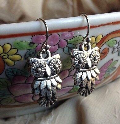 NEW Bird Owl Earrings Silver Vintage Retro Cute Trendy Fashion Jewelry