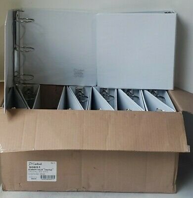12 Cardinal Economy 3-ring Binders 3 Round Rings-625 Sheets-clearvue White
