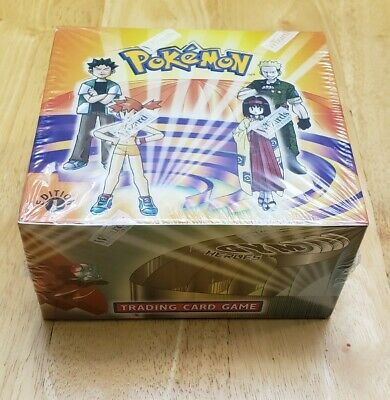 WOTC Pokemon Gym Heroes 1st Edition Booster Box- Factory Sealed - Perfect! NEW!