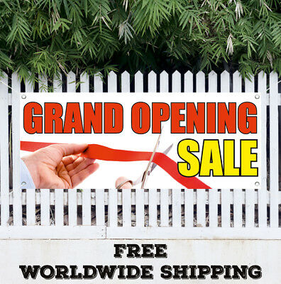 Banner Vinyl Grand Opening Sale Advertising Sign Flag Now Open New Coming Soon