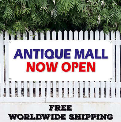 Antique Mall Now Open Advertising Vinyl Banner Flag Sign Grand Opening New Store