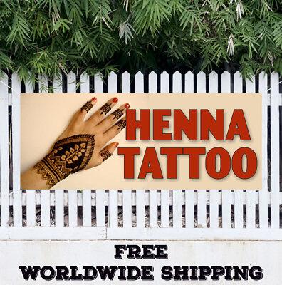 Henna Tattoo Advertising Vinyl Banner Flag Sign Parlor Beauty Salon Body Art