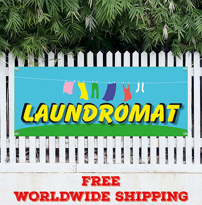 Banner Vinyl Laundromat Advertising Sign Flag Many Sizes Wash Fold Coin Laundry