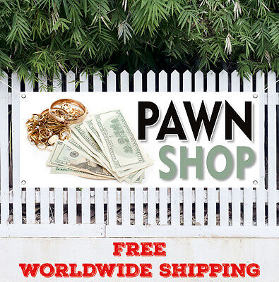 Pawn Shop Advertising Vinyl Banner Flag Sign Buy Sell Trade Gold Loans Cash