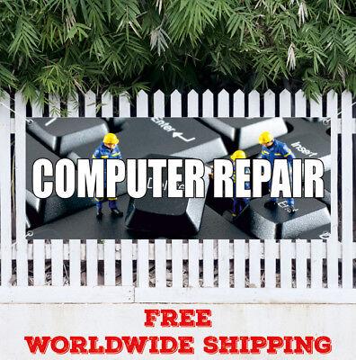 COMPUTER REPAIR Advertising Vinyl Banner Flag Sign Mouse Display Laptop