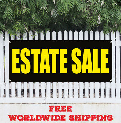 Estate Sale Advertising Vinyl Banner Flag Sign Jewelry Jewels Auction Diamonds