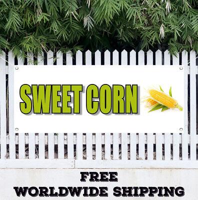 Banner Vinyl Sweet Corn Advertising Sign Flag Farmers Market Farm Produce Fresh