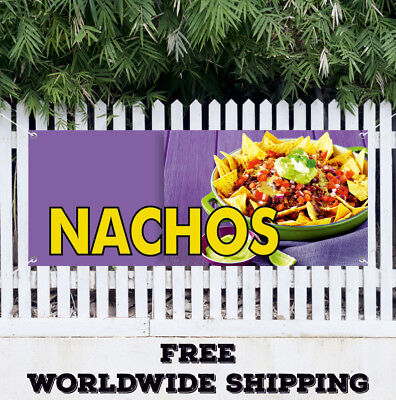 Banner Vinyl Nachos Advertising Sign Flag Cheese Chips Mexican Food Tacos