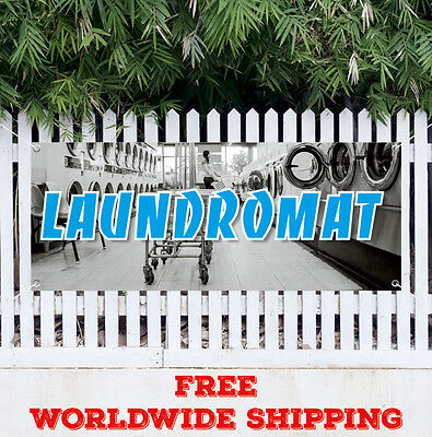 Laundromat Advertising Vinyl Banner Flag Sign Many Sizes Wash Fold Coin Laundry