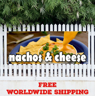 Nachos Cheese Advertising Vinyl Banner Flag Sign Chips Mexican Food Tacos