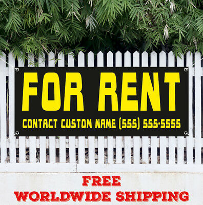 For Rent Contact Custom Name Advertising Vinyl Banner Flag Sign Realtor House