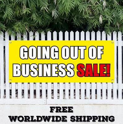 Banner Vinyl Going Out Of Business Sale Advertising Sign Flag Closing Clearance