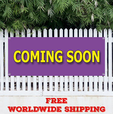 Banner Viny Coming Soon Advertising Sign Flag Now Opening Signs Open Grand New