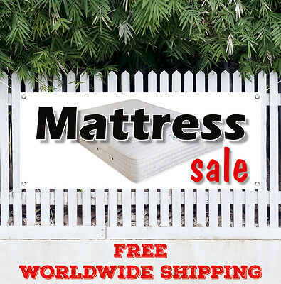 Banner Vinyl Matress Sale Advertising Sign Flag Many Sizes Store Bed Sleeping