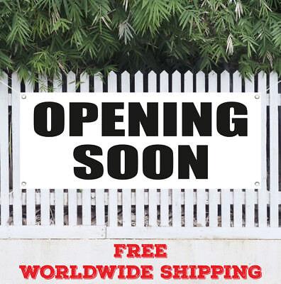 Open For Business Advertising Vinyl Banner Flag Sign Grand Opening Open House