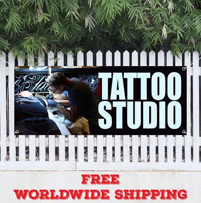 Banner Vinyl Tattoo Studio Advertising Sign Flag Parlor Artwork Artist Pierce
