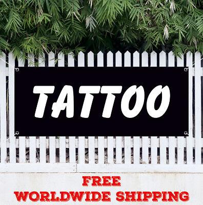 Tattoo Advertising Vinyl Banner Flag Sign Tattoos Shop Body Art Piercings Salon