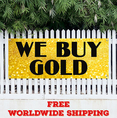 We Buy Gold Advertising Vinyl Banner Flag Sign Pawn Shop Coins Jewelry Silver