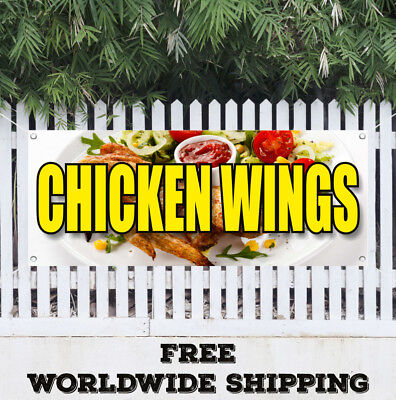 CHICKEN WINGS Advertising Vinyl Banner Flag Sign Spicy Buffalo Hot Dipping - Spicy Chicken Wings