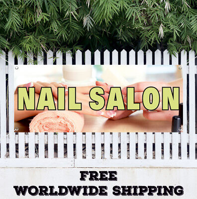 Banner Vinyl Nail Salon Advertising Sign Flag Shop Spa Pedicure Manicure Gel