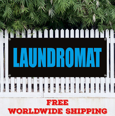 Banner Vinyl Laundromat Advertising Sign Wash Fold Coin Laundry Dry Cleaning