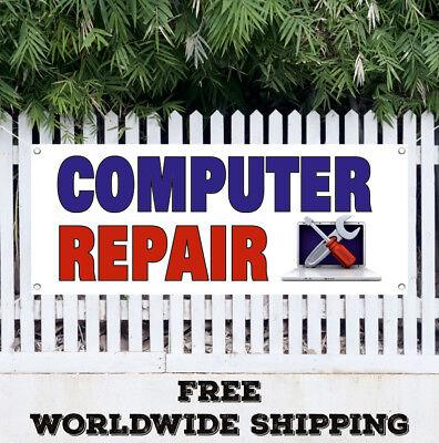 COMPUTER REPAIR Advertising Vinyl Banner Flag