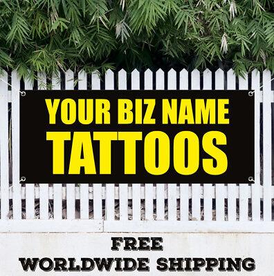 Banner Vinyl Your Biz Name Tattoos Advertising Sign Custom Name Tattoo Salon