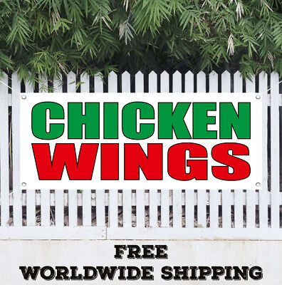 Banner Vinyl CHICKEN WINGS Advertising Sign Flag Spicy Buffalo Hot Dipping - Spicy Chicken Wings