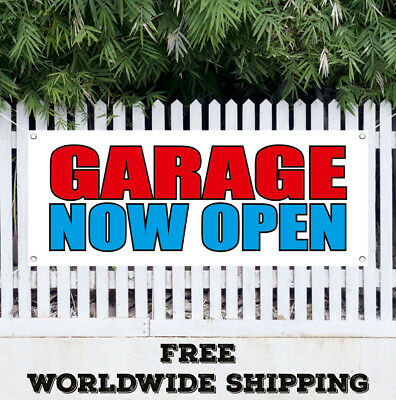 Banner Vinyl Garage Now Open Advertising Sign Flag New Business Now Open Service