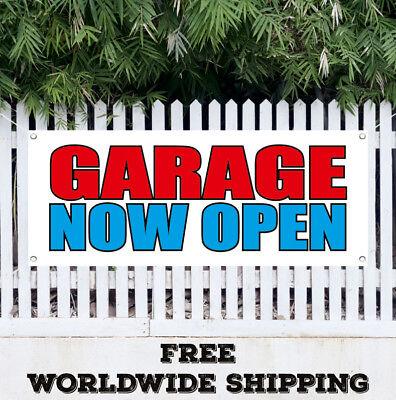 Banner Vinyl Garage Now Open Advertising Sign Flag New Business Now Open Service