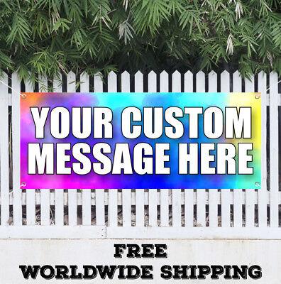 Banner Vinyl Custom Design Advertising Sign Flag Your Custom Message Here