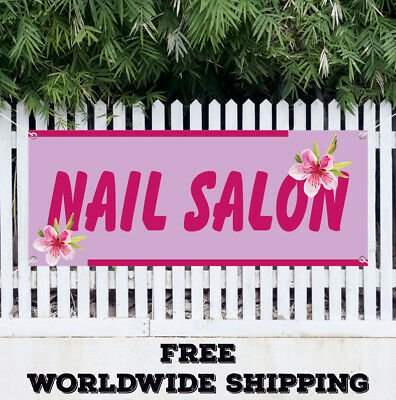 Nail Salon Advertising Vinyl Banner Flag Sign Beauty Salon Manicure Pedicure Spa