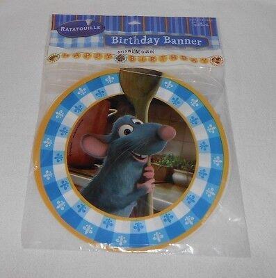 Ratatouille Birthday Party - Hallmark Party Express Disney's RATATOUILLE HAPPY BIRTHDAY BANNER 8' 5