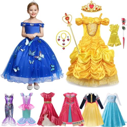 Kinder Mädchen Prinzessin Kleid Kostüm Schneewittchen Weihnachts Geschenk Schnel