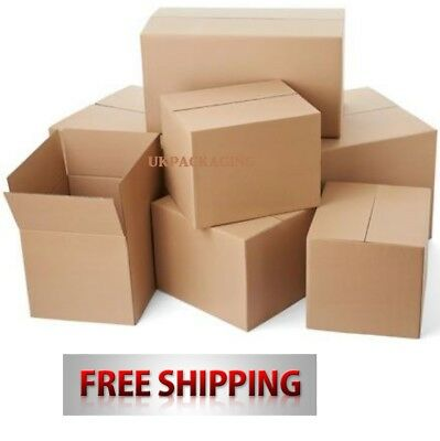 15 Quality Postal Brown Single Wall Packaging Cardboard Boxes Mail 12