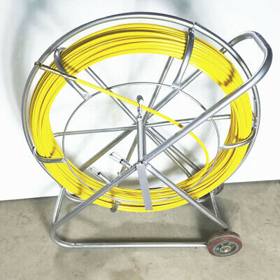 Used 10mm150m Fish Tape Fiberglass Wire Cable Running Rod Duct Rodder Puller