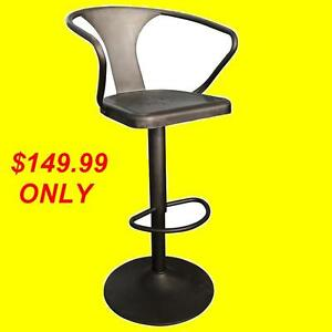 BRAND NEW METAL GUNMETAL FINISH BAR STOOL $149.99 ONLY