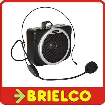 AMPLIFICADOR PERSONAL PORTATIL BATERIA RECARGABLE LECTOR USB Y TARJETA SD BD3666