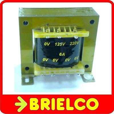 TRANSFORMADOR DE ALIMENTACION 220V AC A 6V+6V 6A 12V 3A CHASIS ABIERTO...