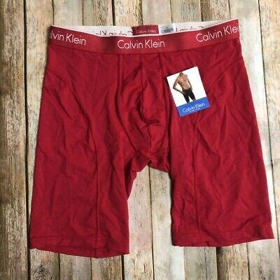 """Calvin Klein Mens Red Cycle Shorts Underwear 9"""" Inseam Air FX  L"""
