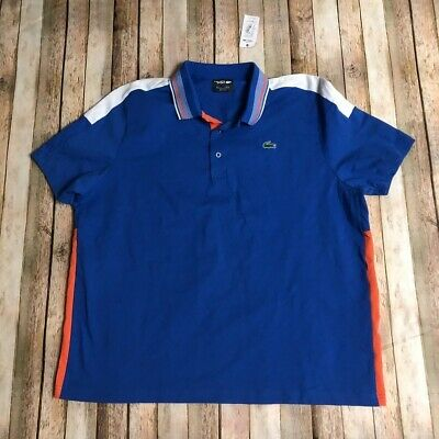 Lacoste Sport Mens Polo Shirt Blue FR 9 Us 4XL SS