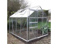 All Glass Aluminium Greenhouse 8ft x 6ft