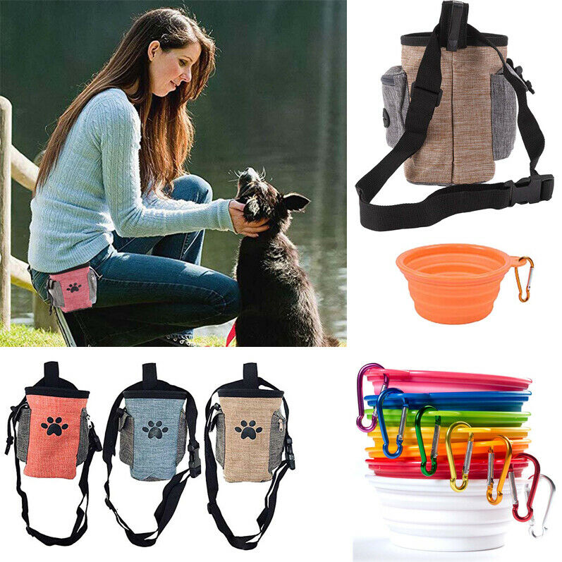Pet Dog Training Treat Pouch Portable Puppy Carries Toys Food Snack Bag Storage
