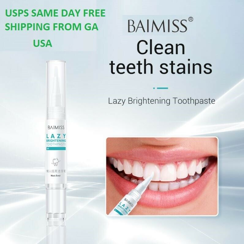 BAIMISS ACTIVATED ORGANIC WHITE TEETH WHITENING GEL TOOTHPASTE STAIN REMOVER Health & Beauty